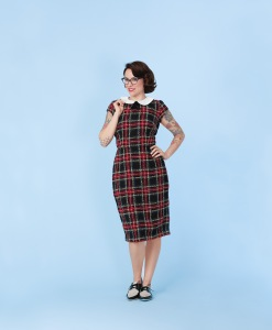 plaid secretary dress