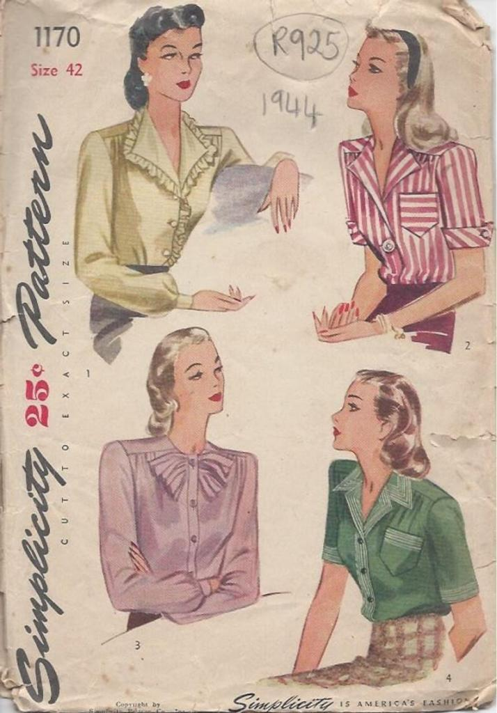 Simplicity 1170 four women in blouses with patient looks on their faces